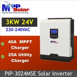 Invertor hibrid unda pura 3000W cu regulator MPPT 40A