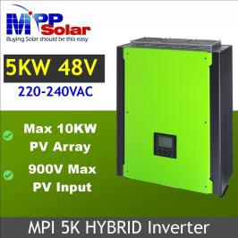 Invertor hibrid unda pura 4000W cu regulator MPPT 80A